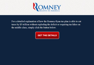 Romney Tax Plan Web Site